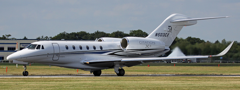 Photo – Cessna Citation X+ N503CX, Farnborough, UK, July 2014 (Brian T Richards)