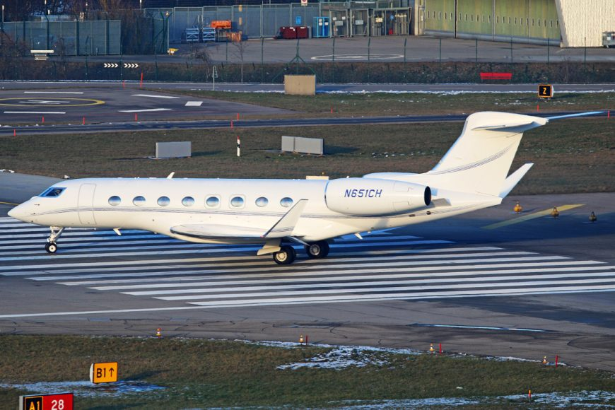 Longest range corporate jet – Gulfstream G650ER