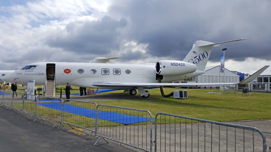 Gulfstream G500 on display for the first time