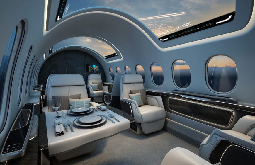 Interior work for the Aerion AS2