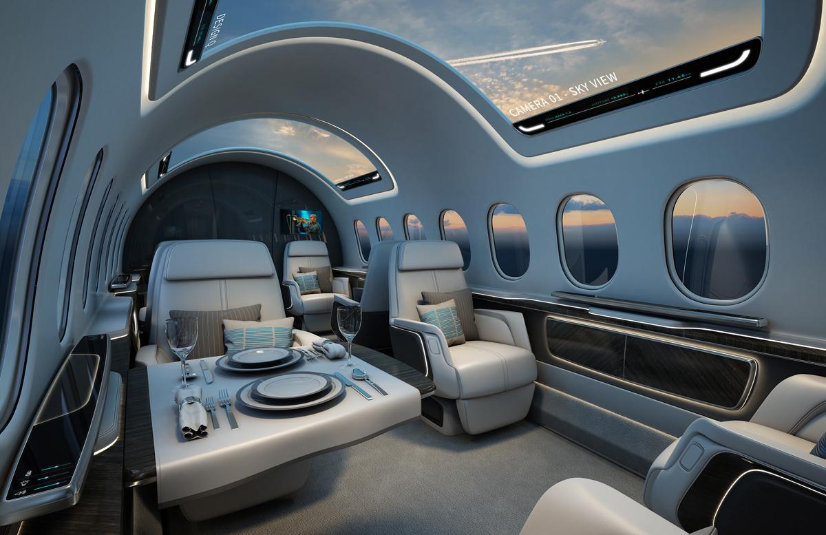 Interior work for the aerion as2 register an aircraft - Registered interior designer georgia ...