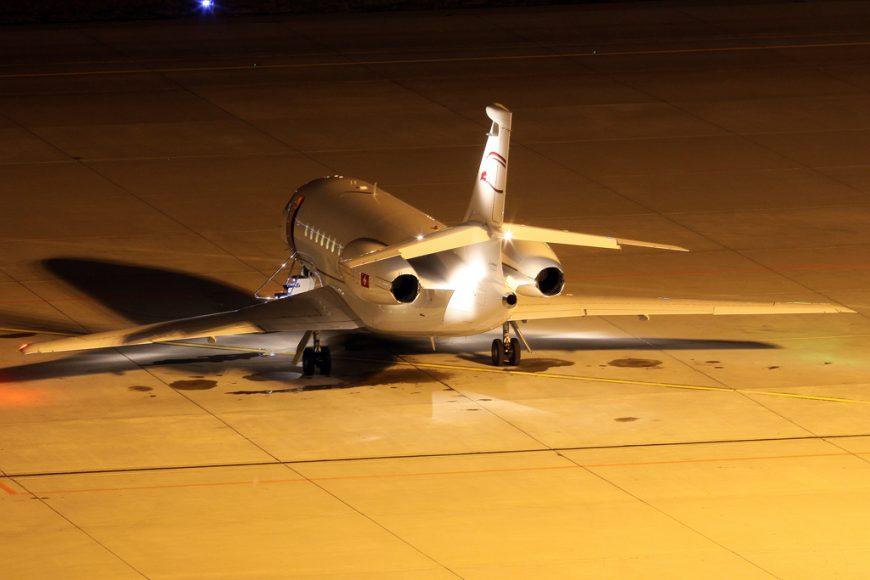 Falcon 6X in virtual rollout